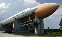 Shuttle launch vehicle at Kennedy Space Center